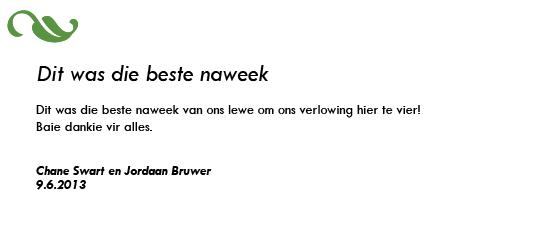 Chane Swart en Jordaan Bruwer