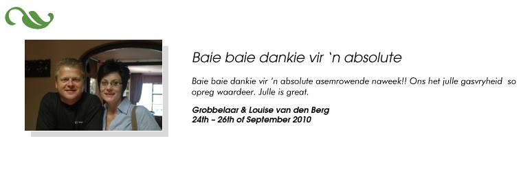 Grobbelaar & Louise van den Berg