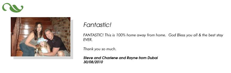 Steve and Charlene and Rayne